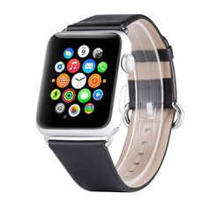 Apple Watch Band, Apple Watch Series 2 Bands, Boonix Top-Grain Genuine Leather Loop w/ Metal Clasp for Apple Watch All Models, Sweat-resistant Pre-assembled Easy Replacement *** Awesome product. Click the image : Travel Gadgets