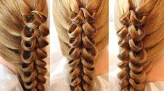 Коса с помощью резинок - 3