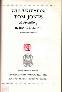 The History of Tom Jones: A Foundling - Great Books of the Western World Volume 37