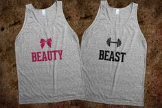 Workout and fitness shirts. My boyfriend nd I could so rock these! Super cute :)