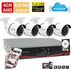 Cheap Surveillance System, Buy Directly from China Suppliers:	SUNCHAN HD 1MP 1200TVL CCTV System 4CH 720P AHD DVR 4*720P Outdoor Waterproof Night Vision Security Camera Kit 1TB HDD