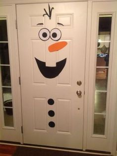Frozen birthday party, Olaf front door decoration by monkeylove