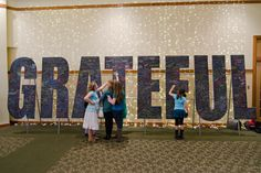 grateful wall - great idea for this word or others: chalkboard paint, congregation can write burdens, prayers, praises, etc.