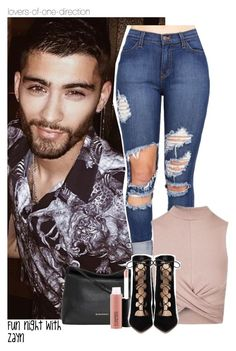 """""""Fun night with Zayn"""" by lovers-of-one-direction ❤ liked on Polyvore featuring Burberry, MAC Cosmetics, Topshop, Gianvito Rossi, zaynmalik, loversofonedirectionoutfits and without1D"""