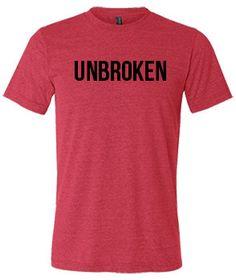 Unbroken Shirt  Crossfit Shirt  Workout by ConstantlyVariedGear