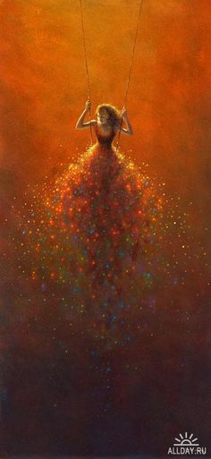 Autumns way - Jimmy Lawlor...pain on the wall of a child's room with lights