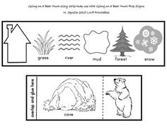 Going on a Bear Hunt Story Strip Use the strip as a map to go on your very own bear hunt using the props that are also available at LWP Printables    https://www.facebook.com/LittleWondersPreK