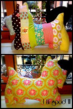 DIY dog shape cervical pillow!  Coixí per a les cervicals en forma de gos! Marieta. I fil good!