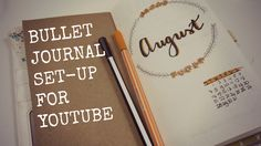 Bullet Journal Set-up For YouTube // PLAN WITH ME https://youtu.be/7IBSwGzX6QE