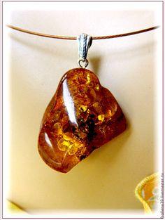 """Купить Кулон """"Обломок""""  янтарь серебро - янтарь, янтарь натуральный, янтарь балтийский, янтарь в подарок"""