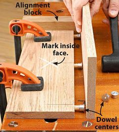Dead-on dowel joints