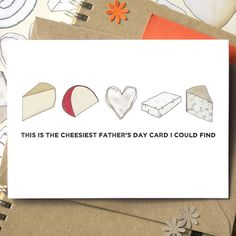 The cheesiest Father's Day card you will ever find - ideal for any cheese loving dad, stepdad or grandad!<em><strong>Cheesy Birthday, Anniversary, Wedding, Engagement and Christmas cards are available but listed separately.</strong></em> <em></em>You can now choose to send this card direct to the recipient, which is perfect if you are overseas, in a hurry or want to save on some postage. Cards chosen with this option will include the message exactly as specified in the text box provided…