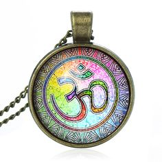 Newest Style Casual Yoga OM Pendant Necklace  http://s.click.aliexpress.com/e/rB6Mz7eYr