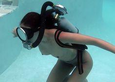 Scuba Girl, Diving Suit, Vintage Twins, Underwater Photography, Gq, Blond, Headphones, Nude, Women
