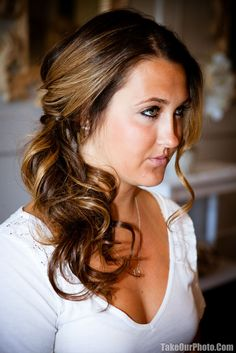 Side Pony updo.... Love for wedding hair