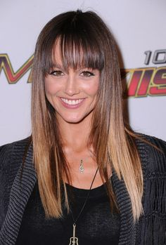 Sharni Vinson Long Straight Cut with Bangs and Ombre