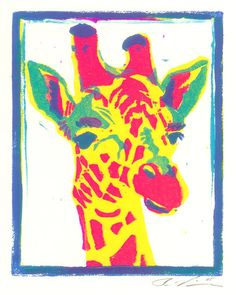 Pop Art Giraffe by ghosteater (print image)