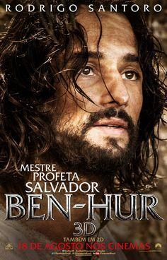 Rodrigo Santoro está no remake de Ben-Hur (1959). O brasileiro interpretará Jesus Cristo e já teve cenas reveladas no primeiro trailer (abaixo). Agora, o filme ganha 5 novos posters, sendo um deles com Rodrigo Santoro. Ben-Hur tem a estreia prevista para o dia 18 de agosto.