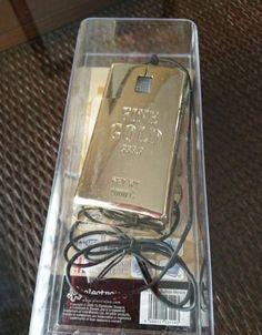 Ratón Pc USB Forma Lingote De Oro