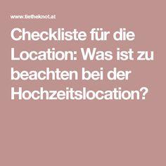 Checkliste für die Location: Was ist zu beachten bei der Hochzeitslocation?