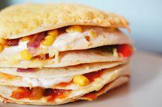 Gewoon wat een studentje 's avonds eet: Vegetarische Mexicaanse taart