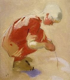 Helene Schjerfbeck: A girl in a sand pit, 1912.