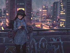 Manga gal n City Lights Character Art, Character Design, Animé Fan Art, Estilo Anime, Anime Art Girl, City Lights, Anime Style, Anime Manga, Images