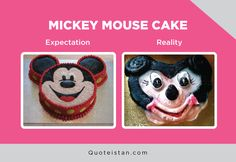 Funniest Mickey Mouse Memes Of All Time Mickey Mouse Memes, Mickey Mouse Cake, Funny Fails, Funny Jokes, Hilarious, Expectation Reality, Jokes And Riddles, School Memes, Disney Memes
