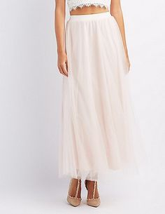 Tulle Full Maxi Skirt at Charlotte Russe #affiliatelink