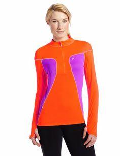 Amazon.com: ASICS Women's Lite-Show Favorite 1/2 Zip Top: Clothing