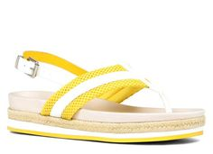 Bright yellow flatform sandals from Aldo. Yes please!