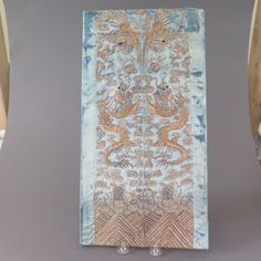 nice ANTIQUE CHINESE EMBROIDERED SILK TEXTILE WITH DRAGONS AND GOLD WRAPPED THREAD Check more at https://aeoffers.com/product/arts-and-crafts-collectibles-handmade-online/antique-chinese-embroidered-silk-textile-with-dragons-and-gold-wrapped-thread/