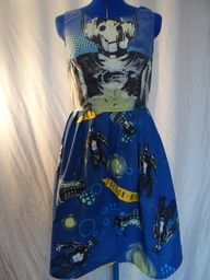 Cyberman Doctor Who dress UK 10. £22.50, via Etsy.