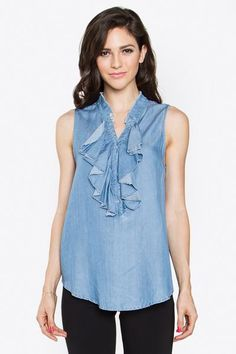 Willow Chambray Top - Poppy Smooches
