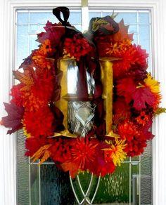 dollar store wreath!