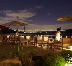 Restaurant Bar Beach Lounge in Manhattan, On the Hudson » La Marina, 348 Dyckman St, 212-567-6300