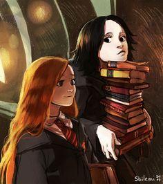 Lily Potter (enfin qu'en elle est mariée) et Severus Rogue. Harry Potter Tumblr, Harry Potter Anime, Harry Potter Fan Art, Harry Potter World, Rogue Harry Potter, Memes Do Harry Potter, Images Harry Potter, Cute Harry Potter, Mundo Harry Potter