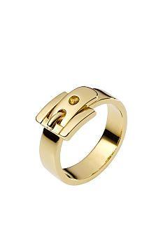 Michael Kors Jewelry Golden Buckle Ring Size 6 - Belk.com