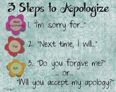 """Counseling Office: Steps to Apologize"""" poster. FREE for your classroom or house! Elementary School Counseling, School Social Work, School Counselor, Career Counseling, Counseling Posters, Counseling Teens, Elementary Schools, Behaviour Management, Classroom Management"""
