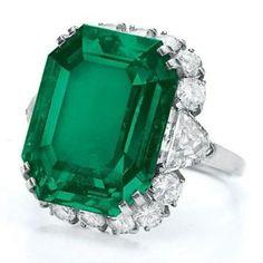 Elizabeth Taylor's, emerald ring.