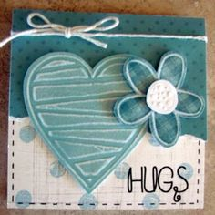 From Donna:  I made several sets of cards with this heart template from Lasting Impressions.