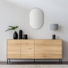 Ethnicraft Oak Nordic Sideboard with 4 doors Sideboard Dekor, Oak Sideboard, Sideboard Furniture, Modern Sideboard, Furniture Sale, Furniture Plans, Furniture Design, Sideboard Ideas, Küchen Design