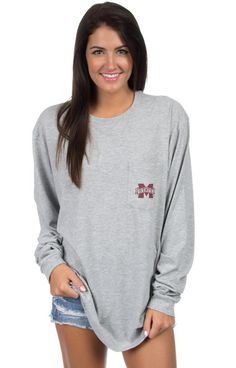 Mississippi State Stadium Tee - Long Sleeve Front