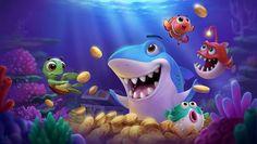 ArtStation - Under the Sea, 东东 梁 Under The Sea Games, Shark Illustration, Shark Games, Cartoon Sea Animals, Undersea World, Cute Cartoon Drawings, Sea Art, Cartoon Games, Environmental Art