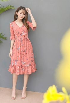 Dress Skirt Will Be Very Beautiful for You to Use Everyday Modest Outfits, Modest Fashion, Dress Outfits, Casual Dresses, Fashion Dresses, Summer Dresses, Simple Dress Casual, Casual Chic, Pretty Dresses