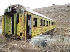 old train car is now used as a bridge to go over a stream - These Photos of the Rarest Things on Earth Will Leave You Speechless Old Buildings, Abandoned Buildings, Abandoned Places, Haunted Places, Abandoned Train, Rail Car, Old Trains, Train Tracks, Covered Bridges