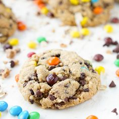 These Monster Cookies are sweet and chewy with a little bit of everything in them!
