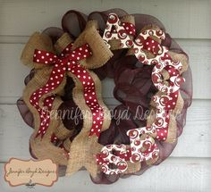 ATM Aggies Deco Mesh Wreath with Burlap, Hand-painted letters Burlap Crafts, Decor Crafts, Burlap Wreath, Diy Crafts, Fall Crafts, Holiday Crafts, Welcome Wreath, Christmas Makes, Deco Mesh Wreaths