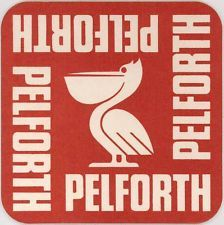 PELFORTH French Bier Beer Old Beermat Drip Mat Coaster 1970s-1980s Pelican