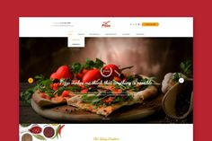 Pizza Kitchen - Pizza & Fast Food Website HTML Template Pizza Kitchen, Food Website, Website Themes, Html Templates, Anything Is Possible, Cheesesteak, Spicy, Meals, Cooking